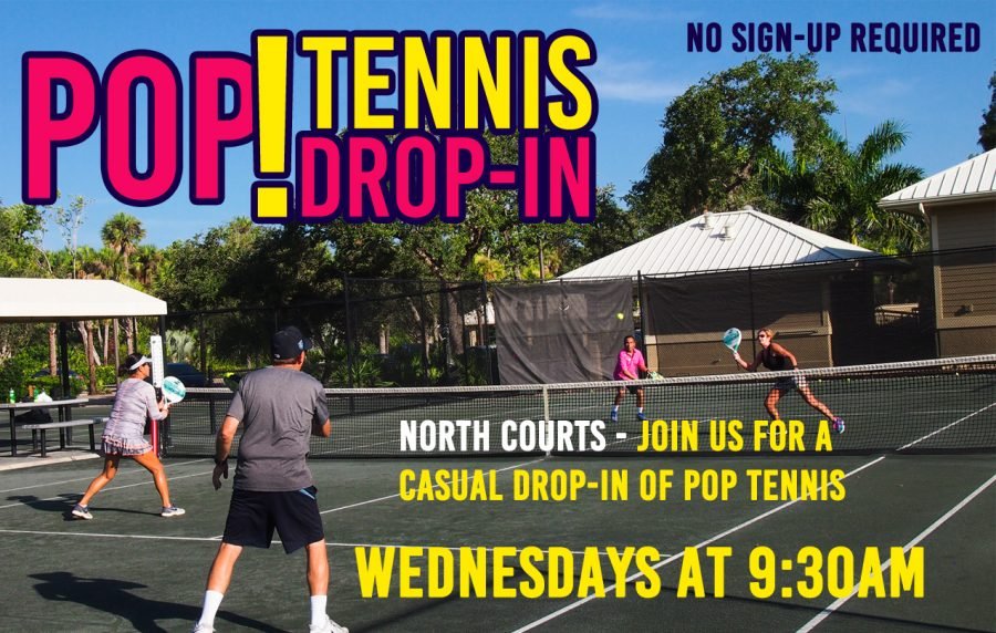 Join us for Pop Tennis every Wednesday at 9:30 a m